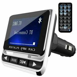 1.4'' Bluetooth Car FM Transmitter Radio MP3 Player USB Char