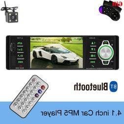 "1 DIN 4.1"" Car Stereo Radio MP5 MP3 Player FM Audio Bluetoot"