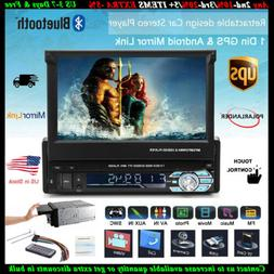1 DIN Bluetooth 7''Car Radio Stereo USB/SD/AUX/EQ/FM/TFT Tou