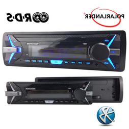 1 Din Car Radio AM FM Car MP3 Player Detachable Panel RDS Bl