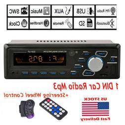 1 DIN FM Car Stereo Radio BT In Dash Handsfree SD/USB AUX He