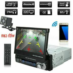 "1 DIN Single 7"" HD Touch Screen Car MP5 Player Bluetooth Rad"