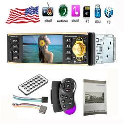 "1DIN 4.1"" HD Car Stereo Radio MP3 MP4 MP5 Audio Player Bluet"