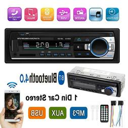 1Din Bluetooth Car Stereo In Dash Audio Radio MP3 Player Rec