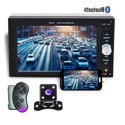 "Camecho 2 din Car Multimedia Player 1080P Full HD 6.2"" LCD T"