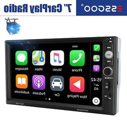 "2 DIN Car Stereo Radio DVD CD MP5 Player 6.2"" Touchscreen Bl"