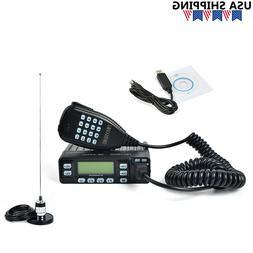25W VHF/UHF Mini Car Mobile Radio+NMO 90MM Magnetic Base+Dua