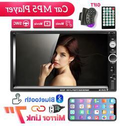 2DIN 7''Car Radio Stereo FM Mirror Link Bluetooth USB/TF/AUX