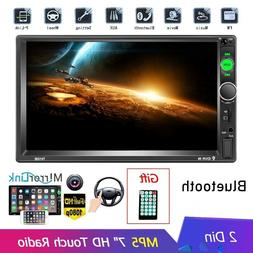 "2DIN 7"" Car Stereo Radio MP5 Player Bluetooth Touch Screen F"