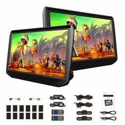 "2x 11.6"" IPS Car LCD Screen Video Monitor Headrest Radio DVD"