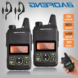 2x Baofeng BF-T1 Two Way Radio UHF 400-470Mhz Walkie Talkie