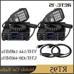 2xRetevis RT95 Mobile Car Ham Radio Dual Band 200CH 25W CTCS