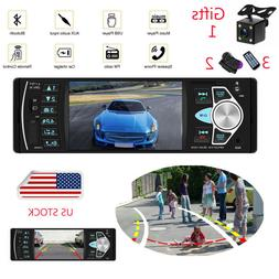 "4.1"" 1 DIN Car Stereo Bluetooth Auto Radio Audio MP3 Player"