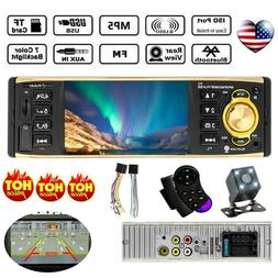 "4"" Audio Car HD Radio Stereo Bluetooth MP5 Player 1 DIN AUX"