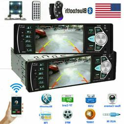 "4.1"" Car Bluetooth In-Dash Stereo Radio MP3 USB AUX Player H"