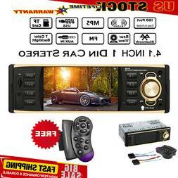 "4.1"" HD 1DIN Car Radio Stereo Video MP5 Player Bluetooth FM"