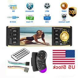 """4.1"""" HD Car Radio Stereo 1DIN MP3 MP5 Player AM FM USB TF AU"""