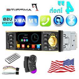 "4.1"" HD Car Radio Stereo 1DIN MP3 MP4 MP5 Player AM FM Bluet"