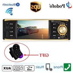 "4.1"" HD Car Radio Stereo 1DIN MP3 MP5 Player AM FM Bluetooth"