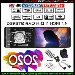 """4.1"""" inch Single 1 DIN Car MP5 Player Bluetooth Touch Screen"""