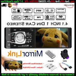 4.1'' Single 1 Din Car MP5 MP3 Player BT FM Radio TF Wheel C