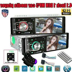 "4.1"" Single 1 DIN Car Stereo Radio MP3 Player Bluetooth FM A"
