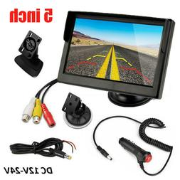 5'' Display Color Monitor RCA for Vehicle Car Rear View Reve