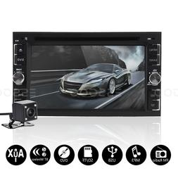 "6.2"" 2 DIN Car Stereo Radio DVD CD MP5 Player FM TF Touch Bl"