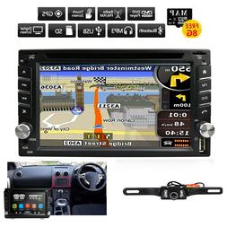 "6.2"" 2DIN Car CD DVD Player Bluetooth Touch Screen Stereo Ra"