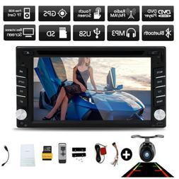 "6.2"" 2Din Car Stereo Radio GPS Nav Touch Screen Bluetooth CD"