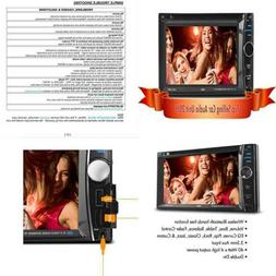 "6.2"" Car Stereo Receiver Double DIN Digital LCD Touchscreen"