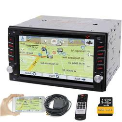 "6.2"" GPS Double 2 Din Car Stereo Radio CD DVD Player Bluetoo"