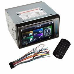"6.2"" HD 2DIN Car Bluetooth Touchscreen CD DVD Player Stere"