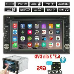 "6.2"" HD Double 2 Din Car DVD GPS Player Radio Stereo Sat Nav"