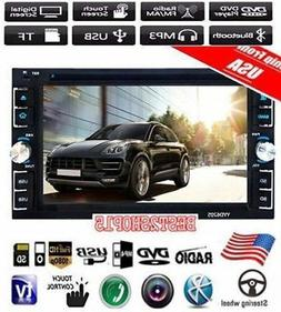 6.2'' HD Touch Screen Double DIN Car Stereo DVD CD MP3 Playe