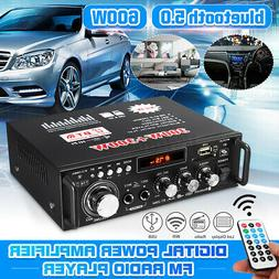600W Car Home 2CH bluetooth 5.0 Digital Power Amplifier Ster