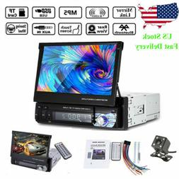 7'' 1 Din Car Radio Head Unit Stereo Audio Flip Out Touch Sc