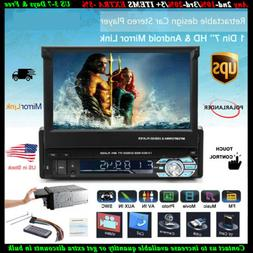7'' 1 Din Car Radio Stereo BT Head Unit FM Audio SD Flip Out