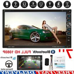 "7"" 2 DIN Car Multimedia FM Radio DVD CD MP5 Player Bluetooth"