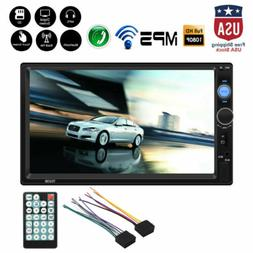 "7"" 2 Din HD 1080P Touch Screen Cars FM/MP5 Player Bluetooth"