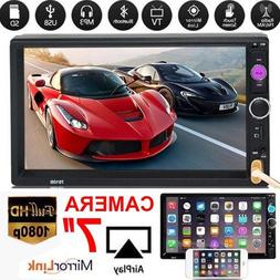 """7/"""" 2 Din HD 1080P Touch Screen Car FM//MP5 Player Bluetooth Stereo Radio In-Dash"""