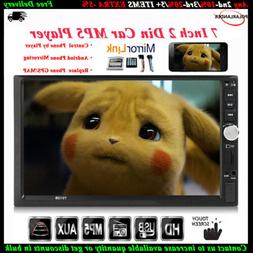7''2 DIN Touch Screen Car Radio Audio Mirror Link BT Stereo