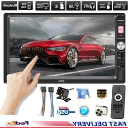 """7"""" 2 DIN Touch Screen Car Radio Bluetooth Stereo MP5 Player"""