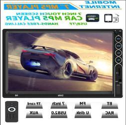 SWM 7'' 2DIN Car Stereo MP5 Player BT FM Radio USB Mirror Li