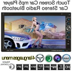 "7"" 2Din Car Stereo Radio DVD Player In Dash HD Bluetooth Ste"