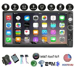"""7"""" 2Din Car Stereo Radio Touch Screen Bluetooth Mp5 Player S"""