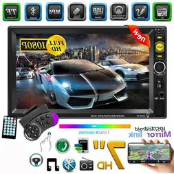 "7"" 2Din Car Stereo Radio Touch Screen Bluetooth Mp5 Player A"