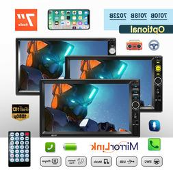 """7"""" 2DIN Double Car MP5 Player Bluetooth Touch Screen Stereo"""