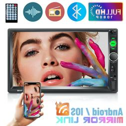 """7""""  2DIN Double Car Radio Touch Screen Bluetooth Mirror Link"""
