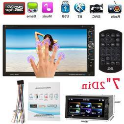"7"" 2DIN In Dash Car Stereo CD DVD Player USB SD Bluetooth AM"